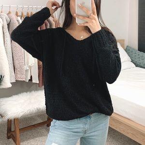 🆕 Black Soft Fuzzy Hoodie
